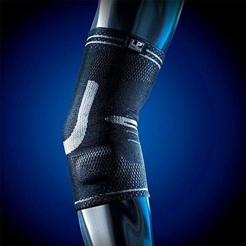 SDA X-Tremus doppelt Silikon Gepolsterte Ellenbogen Kompressions Unterstützung Sleeve von LP-Multi Kompression Level 3D Weave passgenau Ellenbogen-Bandage-Mediale und laterale Epicondylitis/RSI/Sehnen & Gelenke Schwäche/zum Wiederherstellen Verletzungen/Arthritis Relief/Sport Bandage - Medial Epicondylitis Ellenbogen