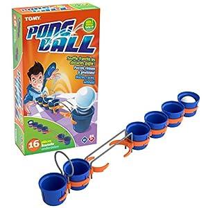 TOMY T73018 - Juego de 6 Vasos, 1 Pelota de Ping Pong, 5 pequeños enganches, 1 Puente de Barras paralelas Rectas, 1 Arco, 1 Manual de Instrucciones