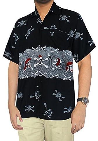 Pocket Front Luau Party Caribbean Camp Hawaiian Halloween Theme Shirt Mens 1115 Grey L Redskull Gift Spring Summer