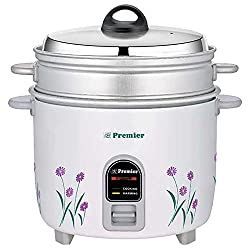 Premier Electric Rice Cooker 22ES 2.2Ltr- ( L x B x H) 27.3 x 27.3 x 30.4, coloured)