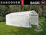 Dancover Lagerzelt Zeltgarage Garagenzelt-Basic 2-in-1, 3x6m PE, weiß