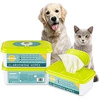 PUPMATE Pañitos Perros y Gatos, pañitos Extra húmedos y Gruesos para Limpiar cachorritos, Incluye 100 pañitos Frescos desodorizantes e hipoalergénicos con- (Natural)