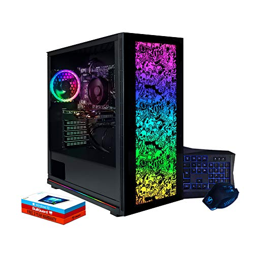Fierce Lumina RGB Gaming PC Bundeln - Schnell 4.2GHz Hex-Core AMD Ryzen 5 2600X, 960GB SSD, 16GB 3000MHz, NVIDIA GeForce GTX 1660 6GB, Windows 10 installiert, Tastatur (QWERTZ), Maus 1137683