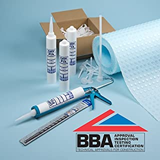 DryFix BBA DPC Cream Damp Proofing x 4 380ml Membrane Kit | Free Snip-Off Tool