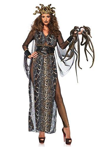 Leg Avenue 8665402101 86654-3Tl Set Medusa, Damen Fasching Kostüm, Multicolor, Größe: M (EUR 38-40)