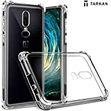 Tarkan Shock Proof Protective Soft Transparent Back Case Cover Compatible with OnePlus 6 / One Plus Six