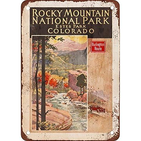 1924Burlington a Estes Park Colorado Stile Vintage Riproduzione in metallo Tin Sign 17,8x