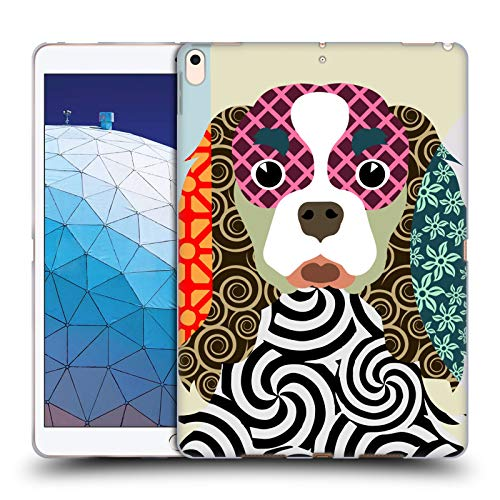 Head Case Designs Offizielle Lanre Adefioye Cavalier King Charles Spaniel Hunde 2 Soft Gel Huelle kompatibel mit iPad Air (2019) -