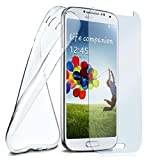 moex Silikon-Hülle für Samsung Galaxy S3 Mini | + Panzerglas Set [360 Grad] Glas Schutz-Folie mit Back-Cover Transparent Handy-Hülle Samsung Galaxy S3 Mini S III Case Slim Schutzhülle Panzerfolie