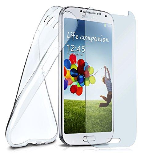 moex Silikon-Hülle für Samsung Galaxy S3 Mini | + Panzerglas Set [360 Grad] Glas Schutz-Folie mit Back-Cover Transparent Handy-Hülle Samsung Galaxy S3 Mini S III Case Slim Schutzhülle Panzerfolie