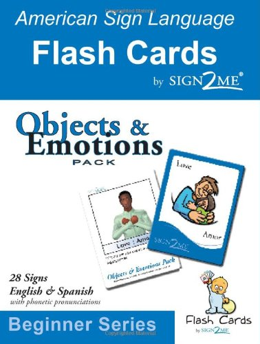 Sign2me Flash Cards: Objects & Emotions Pack: Beginner Series