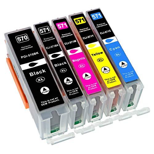 ESMOnline 5 komp. XL Multipack Druckerpatronen für Canon Pixma TS 5050 5051 5053 5055 6050 6051 6052 8050 8051 8052 8053 9050 9055