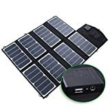 KINGSOLAR Solar Charger 52W Output USB&DC Dual USB 5V-2.1A/DC 18V-2.89A(CE Certification,Foding,Portable,Intelligent Voltage Stabilization Control) for iPhone,iPad , Samsung galaxy and more