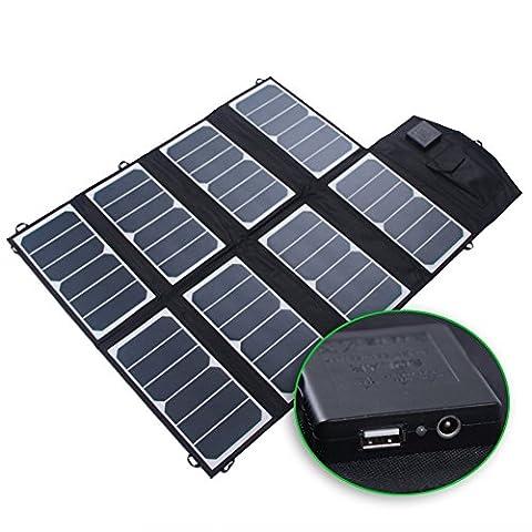KINGSOLAR 52W Chargeur Solaire Portable 2-Port panneau solaire pour iPhone 6 / 6 Plus, iPad Air 2 / mini 3, Galaxy S6 / S6 Edge et bien