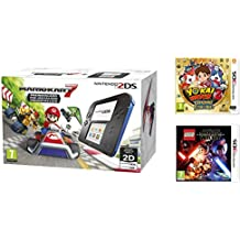 Consola Nintendo 2DS Azul + Mario Kart 7 + Yo-Kai Watch 2: Carnánimas + LEGO Star Wars: El Despertar De La Fuerza