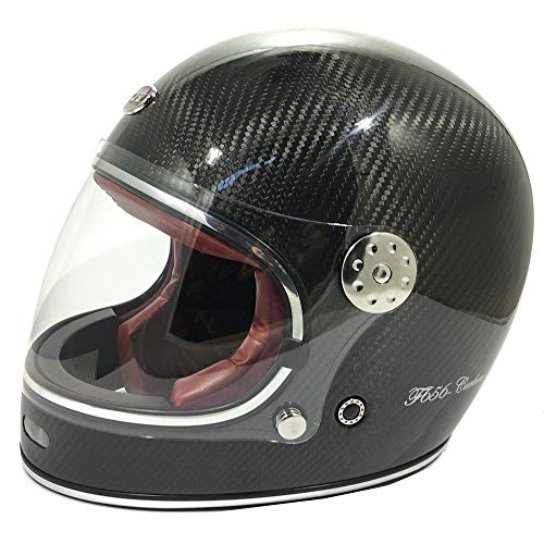 Viper f656-c Carbon vintage casco moto Full Face bici Crash retro coperchio