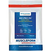 Muscleform AVI-PRO XV Whey Protein Concentrate 83% 1kg Resealable Pouch - Fast Delivery - Unflavoured | Free Express Delivery
