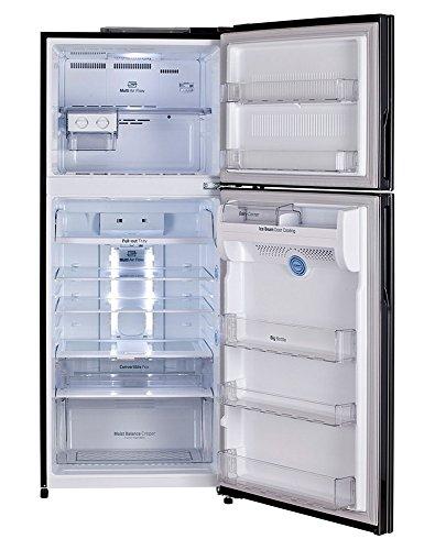 LG 407 L 4 Star Frost-Free Double Door Refrigerator (GL-I452TDBL, Diamond Black)