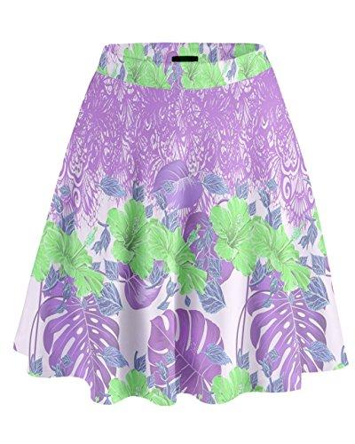 CowCow-Falda-para-mujer-Violet-Hawaii-X-Large