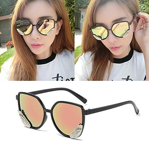 Occhiali da sole occhiali da sole ladies donna cappuccio di usura oversize occhiali classici designer occhiali da sole stile di moda telaio nero fiore di ciliegio in polvere specchio scatola panno