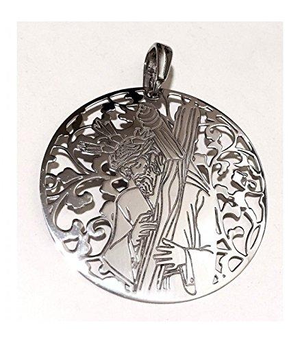 Medalla Cristo de los Gitanos plata de ley 40mm Medallas De Plata