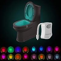 Powerole Lot de 1 Lampe Toilette Veilleuse Capteur de lumière PIR Motion Sensor Éclairage changeant de couleur…