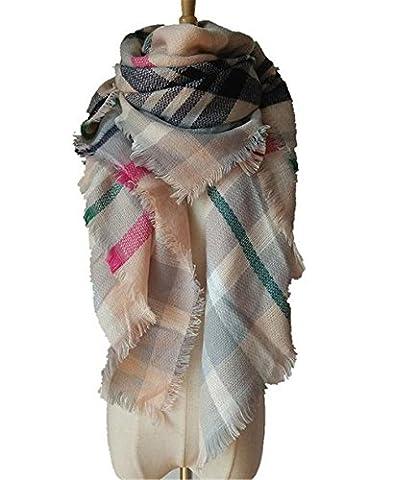 Hippolo automne et hiver imitation cachemire doppelseitigen multicolores Plaid Serviette écharpe écharpe 17 17 L(42)