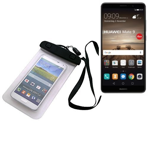 k-s-trade® p. huawei mate 9 (dual-sim) custodia cellulare impermeabile universale pollici waterproof cover case universale beach bag parapioggia manto nevoso