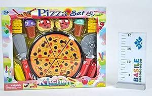 Distribuidores de Juguetes, Juego de Pizzas cortable con Accesorios de Cocina, Multicolor, 8010362440729