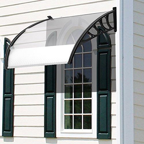 Tomasa Haustür Fenster Markise 120 x 90 cm Vordach Überdachung Haustürvordach Haustür Outdoor Baldachin Sun Shelter
