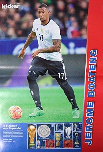 1x Einzelposter Jerome Boateng Star-Poster Deutsche Fußball-Nationalmannschaft EM WM Weltmeister Nationalspieler Stars Helden Deutschland Germany Fan Foto DFB Team (11. Jérôme Boateng)