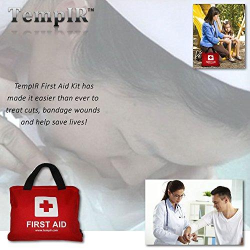 Erste-Hilfe-Set mit über 100 Teilen, für Reisen, Auto, zu Hause, Wohnwagen - 4