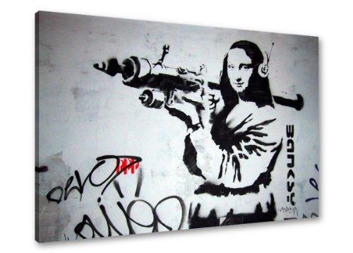 Cuadro en Lienzo Banksy 80 x 60 cm Nr. 4172 cuadro abstracto