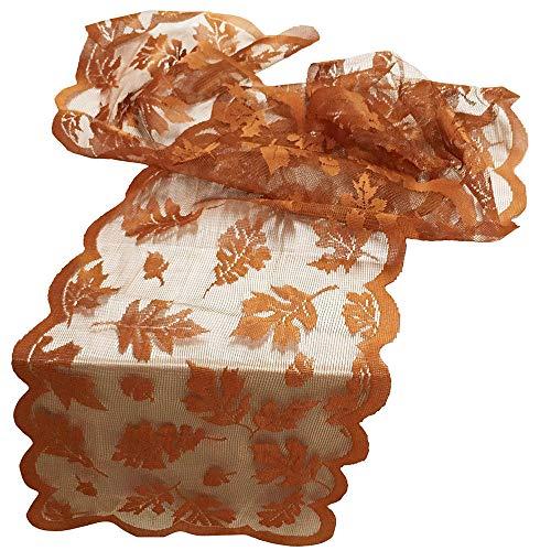 Tischläufer aus Ahornblatt mit Spitze, perfekt für Herbst-Dinner-Partys, Restaurant-Dekoration. (Scary Outdoor Decorations Diy Halloween)