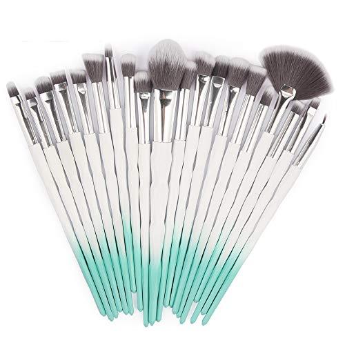 HARRYSTORE 20Pc Make-up Pinsel Set Powder Foundation Lidschatten Eyeliner Lip Kosmetik Pinsel (Natürliche Kosmetik Pinsel)