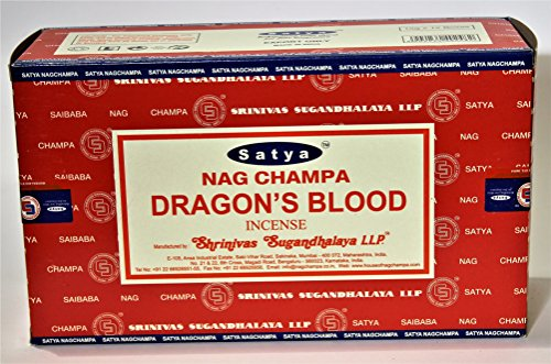 Incienso Satya Dragon´s Blood - 12 cajas de 15 varillas -