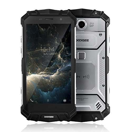 Doogee S60 Waterproof Dust Proof Imported Smartphone | 6GB RAM | 64GB ROM | 21MP Rear Camera | Silver Colour | Delivery in 25 days