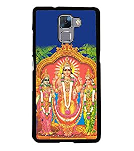Fiobs Designer Back Case Cover for Huawei Honor 7 :: Huawei Honor 7 (Enhanced Edition) :: Huawei Honor 7 Dual SIM (God Bhagvan Temple Dress Sports Typography Spritual)