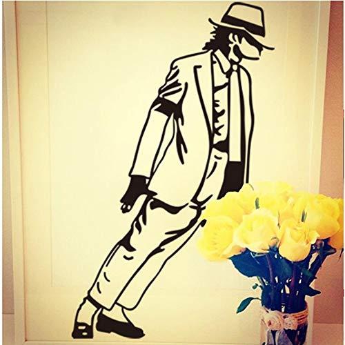 WTTTL Wandaufkleber Aufkleber WandbildTanzen Michael Jackson Wandaufkleber Vinyl Wanddekor Wandtattoos Kunst Poster Diy Wohnkultur