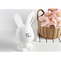 Preisvergleich für Arulinmz Kaninchen Sparschwein Europa Stil Bunny Home Decoration Urlaub Geschenk (weiß)
