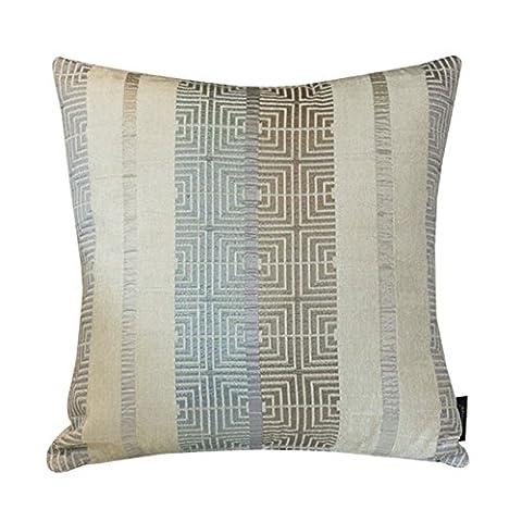 Europäische blau gestreifte Kissen/Chenille Kissen/Sofa-Bett Umarmung Kissenbezug-A (Blaue Gestreifte Kissen)
