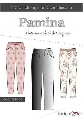 Stoffe Werning Schnittmuster Fadenkäfer Pamina - Damenhose Gr.32-58 Papierschnittmuster - Baumwolle-seide Voile