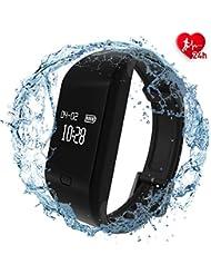 fitpolo Fitness Tracker, Wasserdicht Fitness Armband mit Pulsmesser,Aktivitätstracker mit Schlafmonitor, Schrittzähler, Kalorienzähler, Schrittzähler für Kinder Frauen Männer iPhone Android