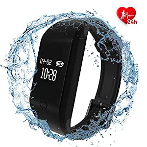 51n pGwHOoL. SS300  - Fitness Trackers Watch,Fitness Watch IP68 Waterproof Colour Screen Activity Trackers with Heart Rate Monitor Smart Watches Pedometer Activity Tracker for Women Men Call SMS SNS Notification Push