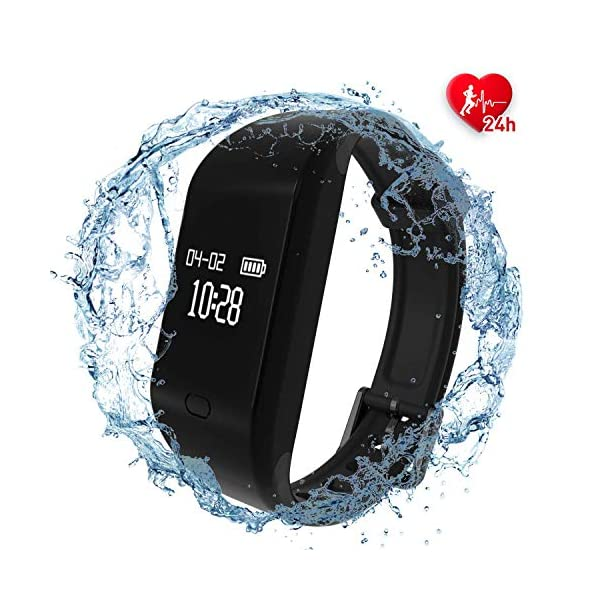 Fitpolo Fitness Tracker HR IP67 Waterproof Fit Tracker With Heart Rate Monitor Activity Tracker Watch With Sleep Monitor Step Calorie Counter Pedometer Smart Fitness Wristband For Kids Women Men