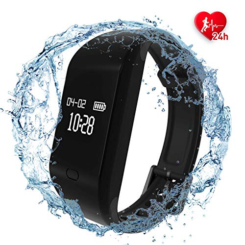 Orologio Fitness Uomo,Smart Watch Donna IP68 Cardiofrequenzimetro da Polso Contapassi Smartband Sportivo Activity Tracker per Android iOS Xiaomi Samsung