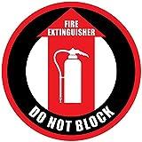 Feuerlöscher nicht Block rot schwarz rutschfeste Boden Aufkleber Aufkleber 24 in longest side