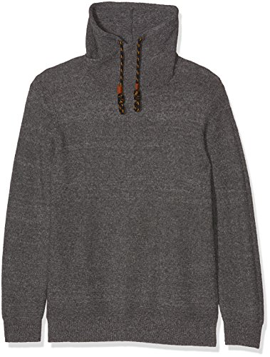 s.Oliver Big Size Herren Pullover Grau (Blend Grey 9730)
