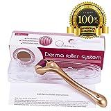 Derma Roller 1.5mm+Guida Utente Gratuita per Trattamento Pelle, Efficace per Acne, Rughe, Smagliature, Perdita di Capelli, Cicatrici ed Iper-pigmentazione