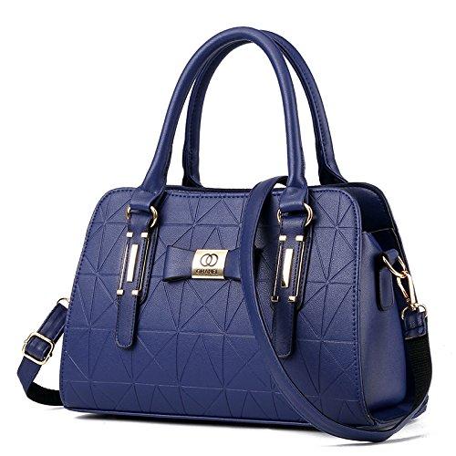 LiZhen Ms. pacchetti nuovi eleganti nella mezza età mamme vecchio borsa donna minimalista mano selvatici polizze di carico tracolla messenger bag, core package azzurro Core package di blu scuro